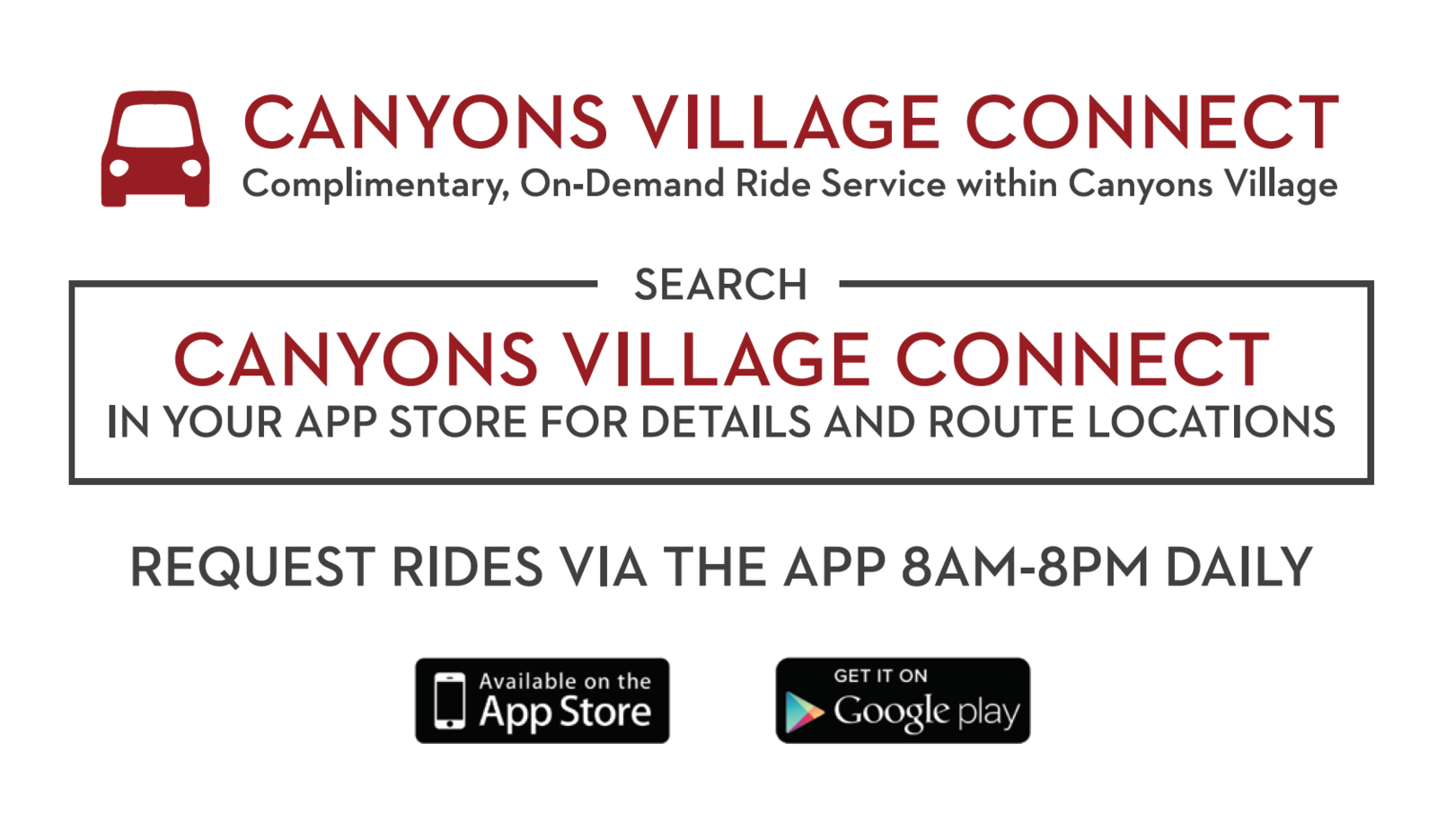 Canyons Village Connect